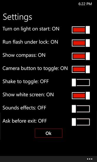 نرم افزار چراغ قوه برای ویندوز فون
