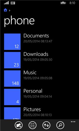 نرم افزار فایل منیجر رسمی Files برای ویندوز فون
