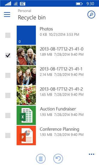 ذخیره اطلاعات در فضای ابری با نرم افزار OneDrive ویندوز فون
