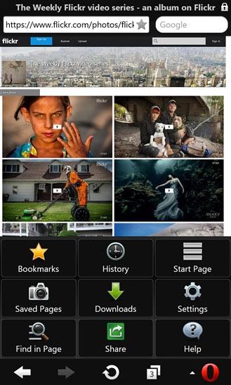 دانلود مرورگر حرفه ای Opera Mini-beta برای ویندوز فون
