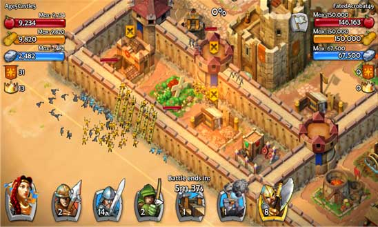 بازی استراتژیک Age of Empires: Castle Siege ویندوز فون