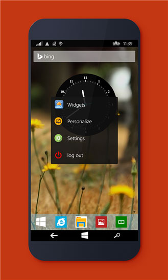 دانلود لانچر و نرم افزار تغییر ظاهر ویندوز فون Desktop Launcher
