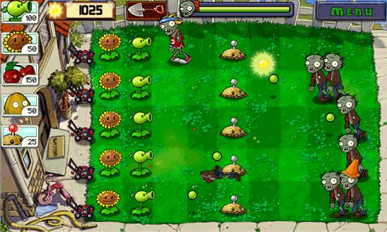 بازی زیبای PLANTS VS ZOMBIES v1.3.0.0 کراک شده برای ویندوز فون