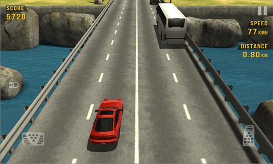 بازی جذاب مسابقه در ترافیک Traffic Racer برای ویندوز فون
