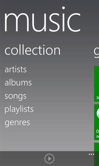 دانلود نرم افزار پلیر Music Hub Tile برای ویندوز فون