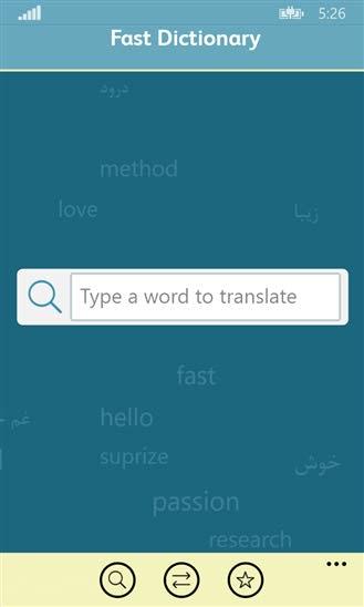 ترجمه لغات با دیکشنری ویندوز فون Fastdic