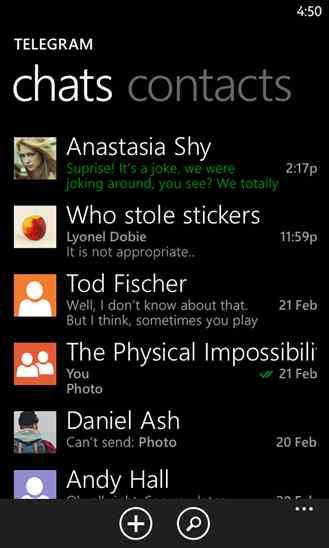 آپدیت جدید مسنجر مشهور تلگرام Telegram Messenger برای ویندوز فون