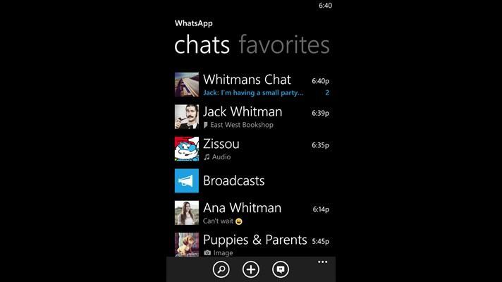 آپدیت جدید برنامه whatsApp برای ویندوز فون