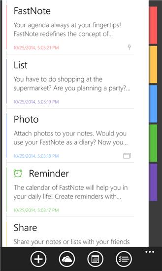 دانلود نرم افزار یادداشت برداری FastNote برای ویندوز فون