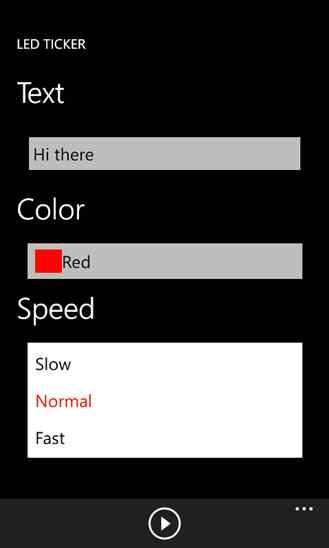 دانلود برنامه زیبای LED Ticker ویندوز فون