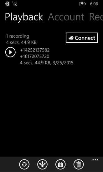 ضبط مکالمه با نرم افزار Call Recorder برای ویندوز فون