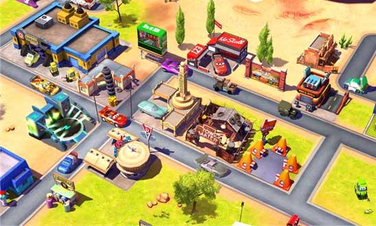 بازی زیبای ماشین ها Cars: Fast as Lightning برای ویندوز فون