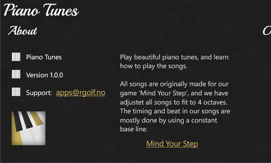 دانلود نرم افزار آموزش پیانو Piano Tunes برای ویندوز فون