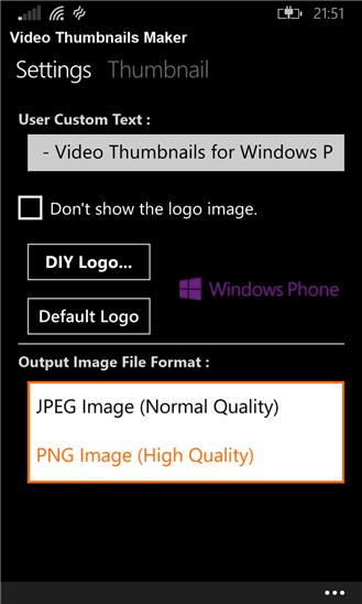 نرم افزار تبدیل فیلم به عکس Video Thumbnails 8.1 برای ویندوز فون