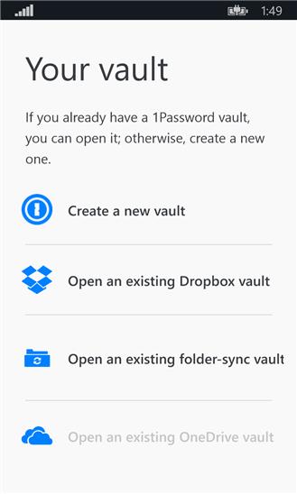 ذخیره رمز عبور در ویندوز فون با برنامه ۱Password