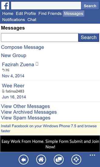 پیج فیسبوک خود را برنامه ویندوز فون Facebook FastPlus باز کنید