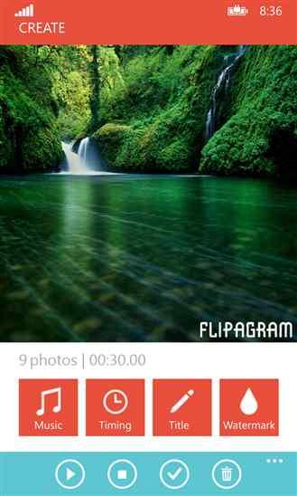 تبدیل تصاویر به فیلم با نرم افزار قردتمند Flipagram برای ویندوز فون