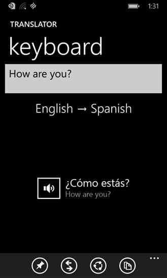 مترجم متن با برنامه Translator توسط Bing برای ویندوز فون