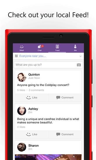 دانلود مسنجر مشهور MeetMe برای ویندوز فون