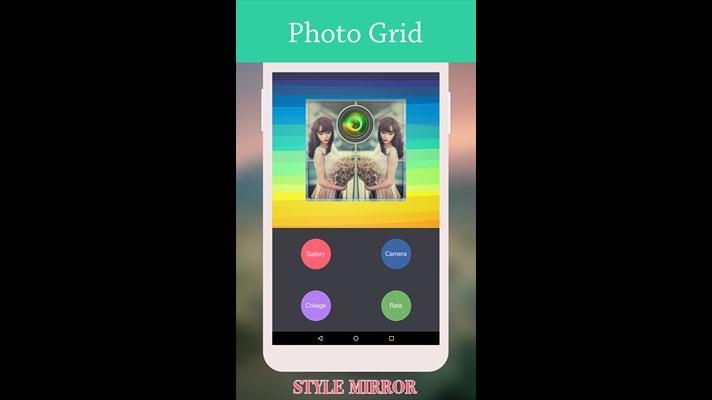 معکوس کردن عکس خود با برنامه Mirror Photo Grid ویندوز فون