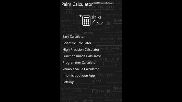 دانلود نرم افزار قدرتمند ماشین حساب Palm Calculator برای ویندوز فون