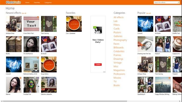 نرم افزار حرفه ای افکت گذاری PhotoFunia برای ویندوز فون