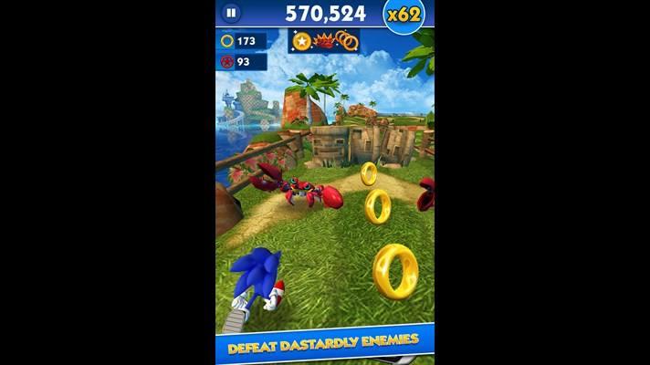 دانلود بازی زیبای Sonic Dash برای ویندوز فون