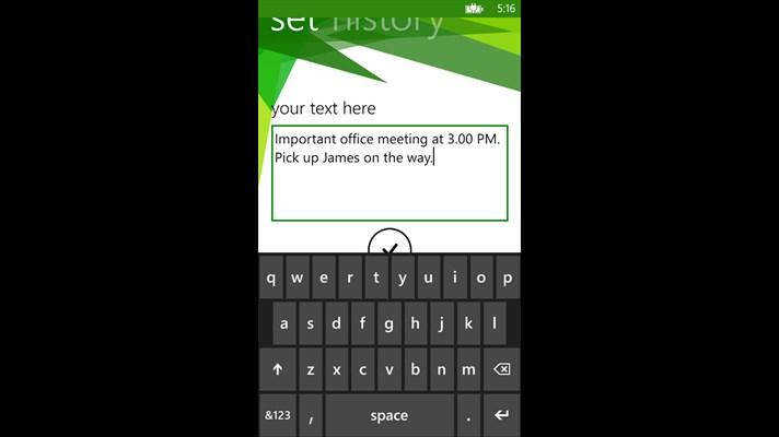 نوشتن متن دلخواه روی صفحه قفل با برنامه LockText ویندوز فون