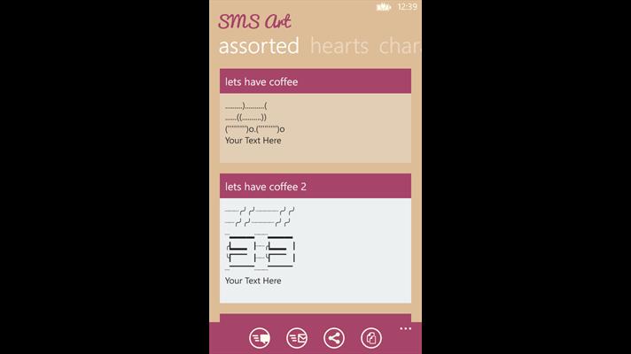 با برنامه ویندوز فون SMS Art متفاوت اس ام اس بنویسید