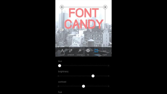 با برنامه ویندوز فون Font Candy متن های خلاقانه بنویسید