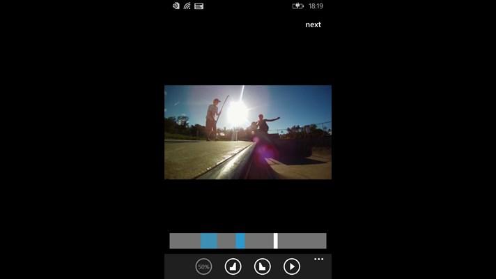 با برنامه ویندوز فون Slowly ویدئو های صحنه آهسته بسازید