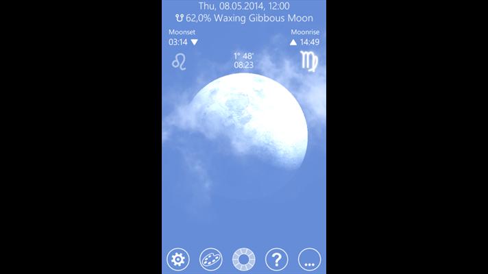 مشاهده ماه بصورت سه بعدی Moon 3D Free برای ویندوز فون