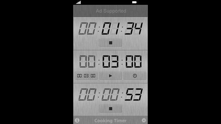 برنامه تایمر پخت و پز Cooking Timer برای ویندوز فون