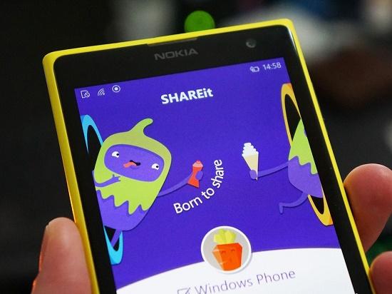 بروزرسانی برنامه shareit برای ویندوز فون