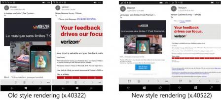 آخرین نسخه  Outlook موبایل شامل بهبودهایی در نمایش ایمیل است