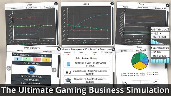 شبیه ساز بیزینس Game Studio Tycoon 3 قابل عرضه در ویندوز استور