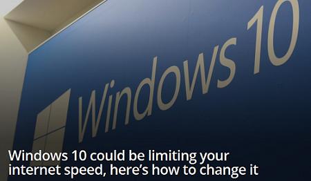 ویندوز۱۰می تونه اینترنت شما رو محدود کنه!